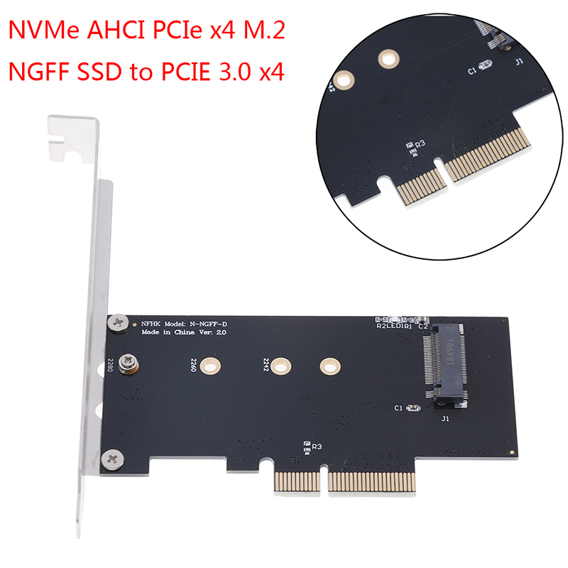 NVMe AHCI PCIe X4 M.2 NGFF SSD To PCIE 3.0 X4 Converter Adapter Card