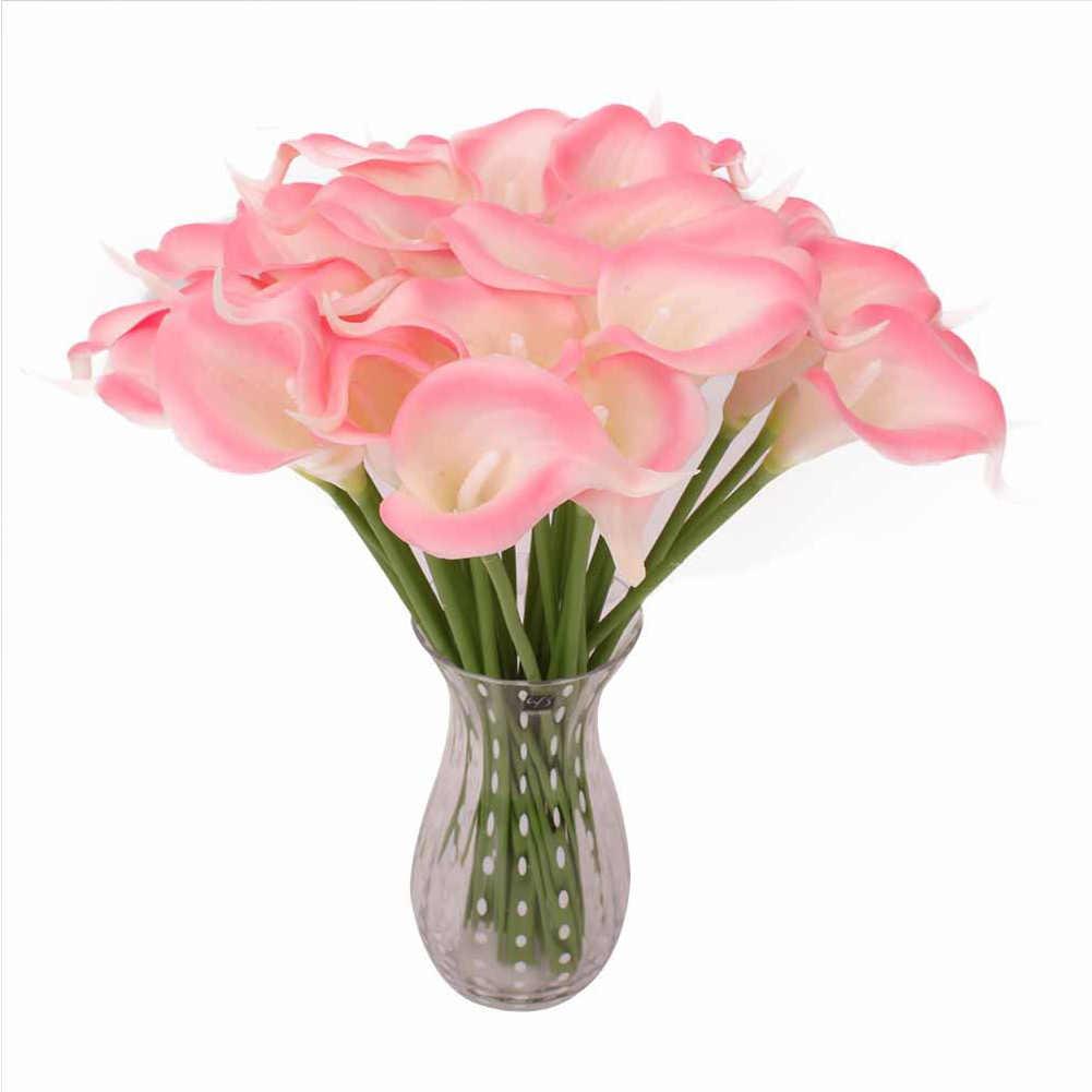Neue Künstliche Gefälschte Blumen Für Hochzeit Home Decor Braut Bouquet Party Dekorative Blumen PU Künstliche Blumen Gelbe Rose Rot