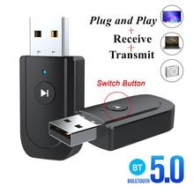 SY18 USB Bluetooh 5.0 Audio Receiver Transmitter 3.5mm Jack AUX USB Stereo Music Wireless