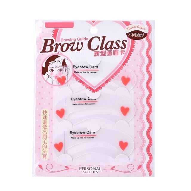 Easy to Use Threading Artifact Thrush Card Eyebrows Mold 3Pcs/set Thrush Card Threading Word Eyebrow Makeup Tools 5