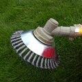 2020 neue 8 zoll Stahl Draht Rad Pinsel Gras Trimmer Kopf Unkraut Reinigung Werkzeuge Rasenmäher Gras Cutter Für Garten rasen Pflege -