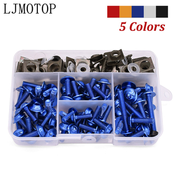 For BMW R1200 S RT ST S1000 RR R XR Ducati 748 916 996 998 175pcs Motorcycle Fairing Body Bolts Kit Fastener Clips Screw Nuts M6 image