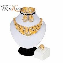 MUKUN 2019 Fashion jewelry set  Necklace Ring Bracelet Earring for Women African Nigerian Jewelry Sets Turkey Party Jewellery