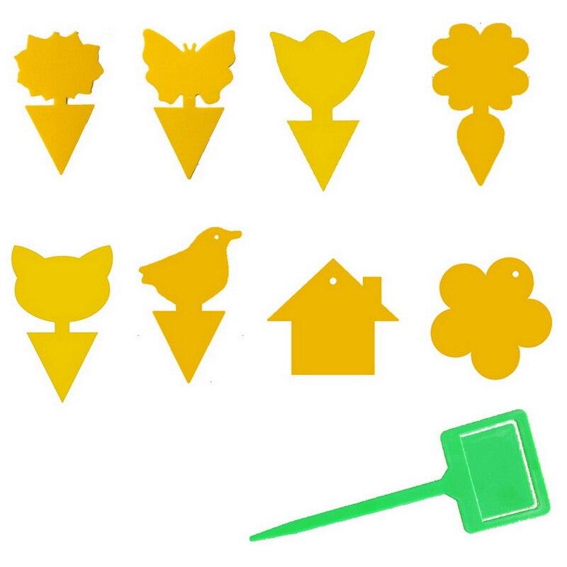 Желтый Сильный Мухи Липкий Ловушки Ошибки Летающие Ловушки Ловля Тля Вредитель Убийца Открытый для Фрукты Муха Грибок Насекомые Двойные Ловушки