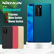 Nillkin Case for Huawei Mate 30 20 Pro P40 P30 P20 Lite Case Frosted Matte Hard Cover Bag Case on Huawei Honor V30 20 Pro Cases hit color frosted case for huawei p40 pro mate30 mate 30 pro p30 pro luxury shockproof case for honor v30 pro soft silicone new