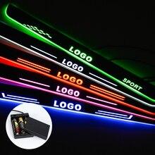 Özel LOGO için LED kapı eşiği Proton araba aksesuarları eşik pedalı kapı eşikleri pil tarafından işletilen