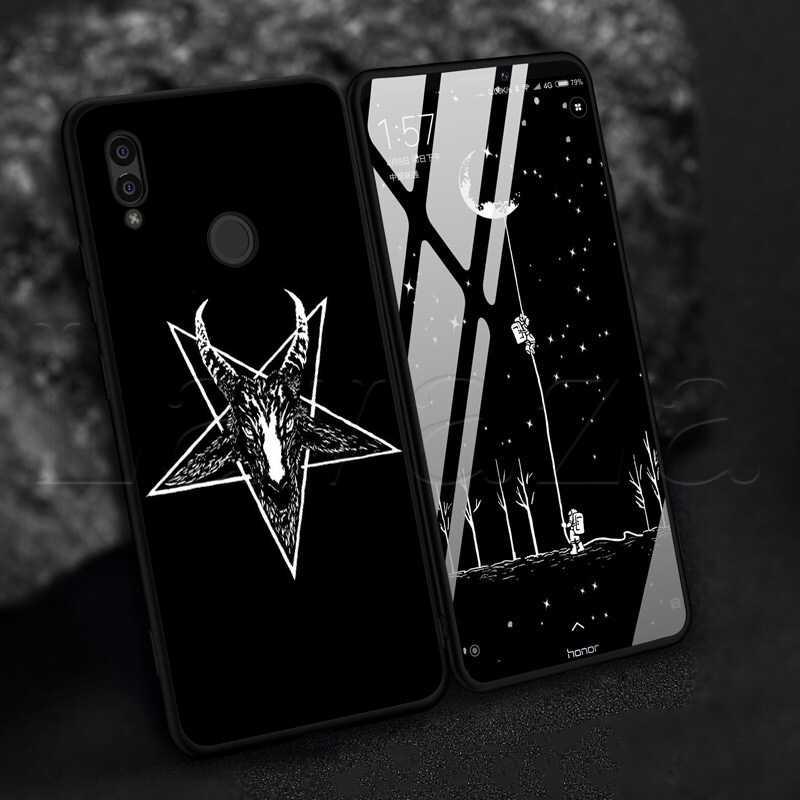 Lavaza pentagrama 666 caixa de silicone macio satânico demoníaco para nota de honra 6a 7x 8a 7x 8c 9 9x10 20 s pro lite
