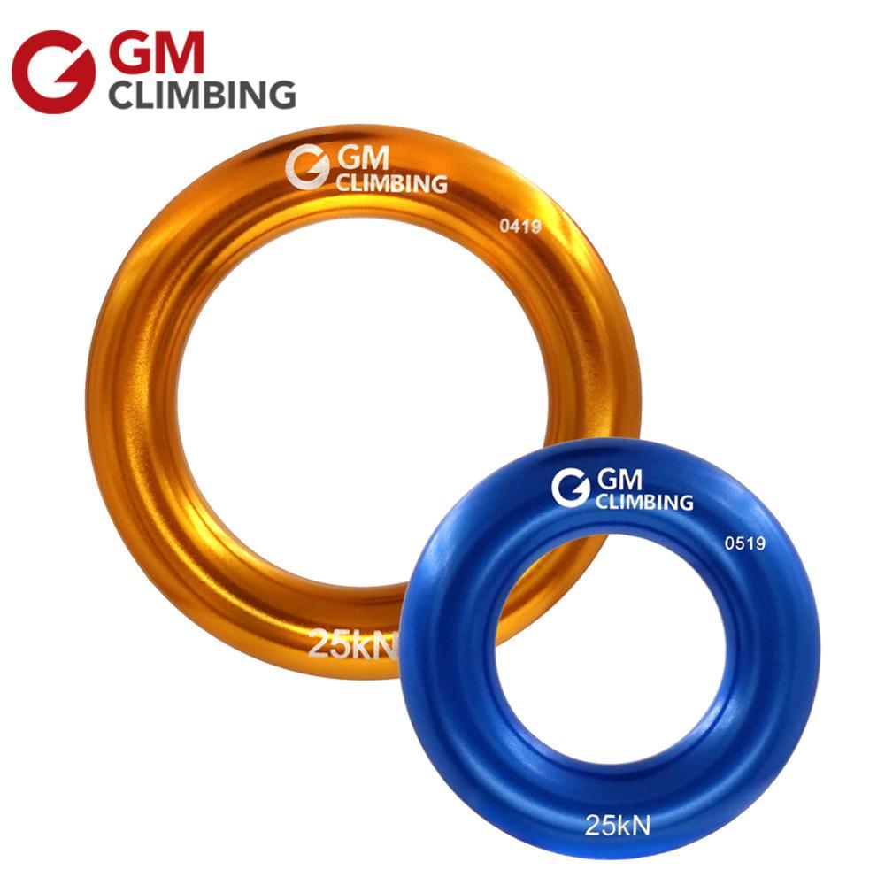 2Pc CLIMBING Rappel Ring Aluminum 22KN For Rope Retriver Friction Saver Hammock