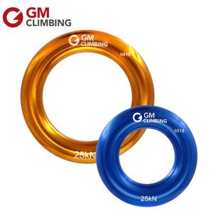 Rappel Ring 25kN Aluminum Bail-Out Descending Ring for Mountaineering Rappelling Rigging Tree Climbing Hammock Setting(China)