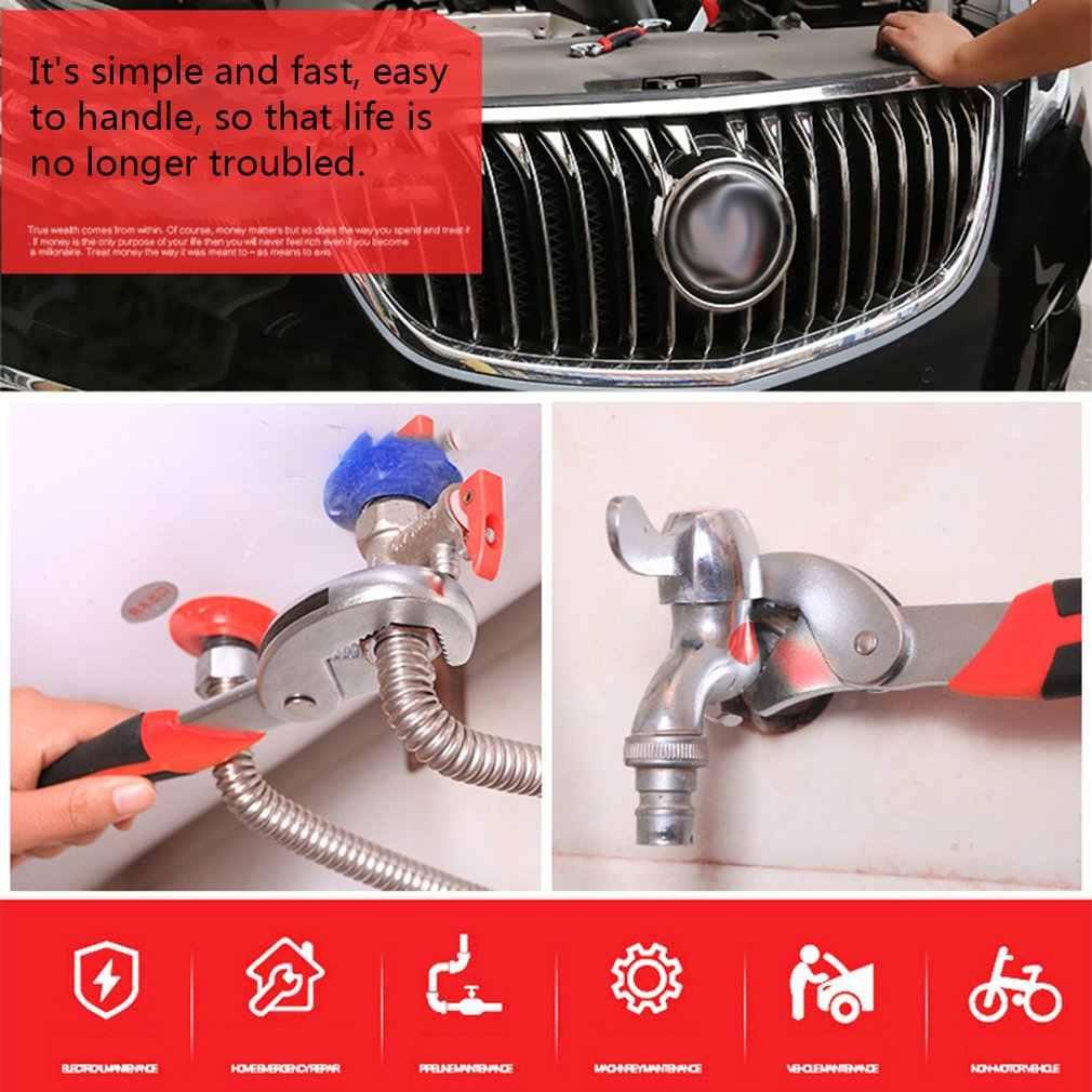 Chave inglesa ajustável multi-função universal ferramenta de chave de reparo em casa ferramenta de mão multi purpose chave de tubulação universal