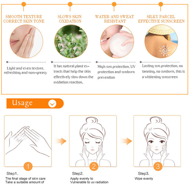 Facial Body Sunscreen Whitening Sun Cream Sunblock Skin Protective Cream Anti-Aging Oil-control Moisturizing SPF90 Face 6