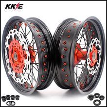 KKE 3,5& 5,0 17 дюймов супермотор Cush приводные колеса диски набор для KTM 690 ENDURO R 2008- передний диск 300 мм