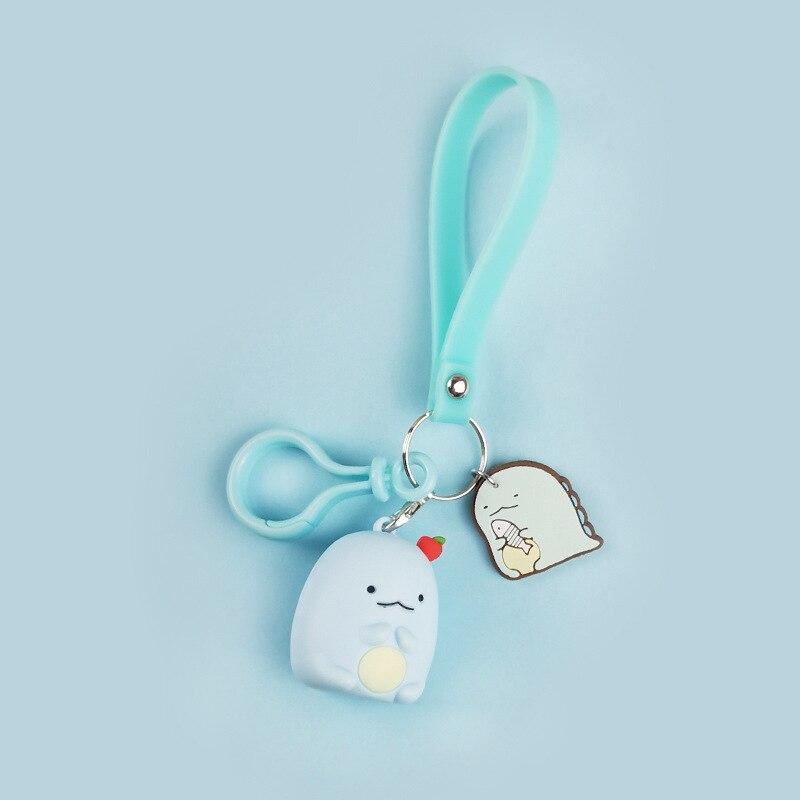 Fashion Cartoon Japan Corner Biology Flexible KeyChain Sumikko Animal Toy Keychain Pendant Bag Ornaments keyring