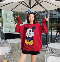 long sleeve women sweater2019 autumn and winter new fashion loose sweater long-sleeved cartoon