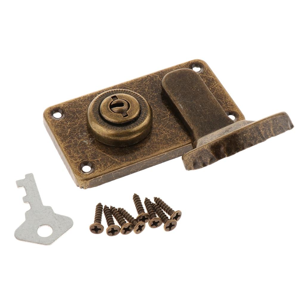 Metal Trunk Buckle Shackle Lock Latch Bolt for Wooden Chest Drawer Dresser Trunk Box Case Lockset Locker Buckle Latch