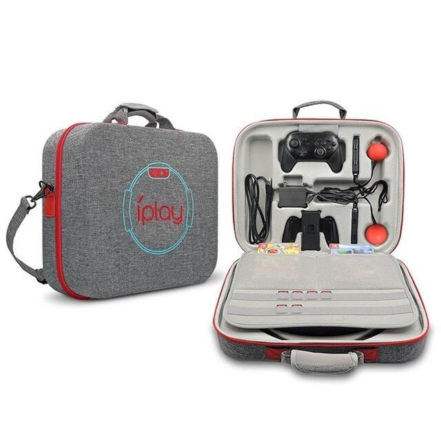 EVA taşınabilir sert kabuk koruyucu depolama taşıma çantası büyük kapasiteli fermuarlı çanta nintendo anahtarı konsolu için/Dock/Fitness halka