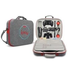 Eva 휴대용 하드 쉘 보호 스토리지 운반 가방 닌텐도 스위치 콘솔/독/피트 니스 반지에 대 한 큰 용량 지퍼 케이스