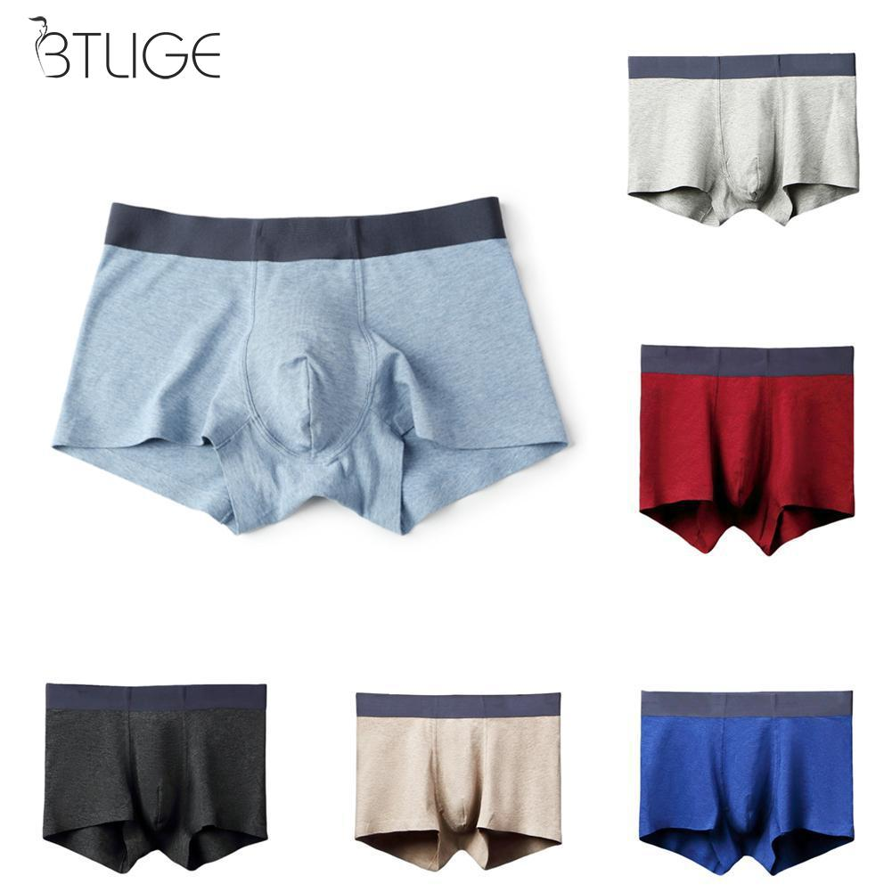 Man Boxer Panties Shorts Men's Underwear Comfortable Male Cotton Brand Solid 1pcs