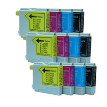 12pcs Ink Cartridge LC51 LC57 LC1000 LC960 LC970 LC37 LC10 Compatible For Brother MFC-5460CN MFC-5860CN MFC-630CD MFC-630CDW