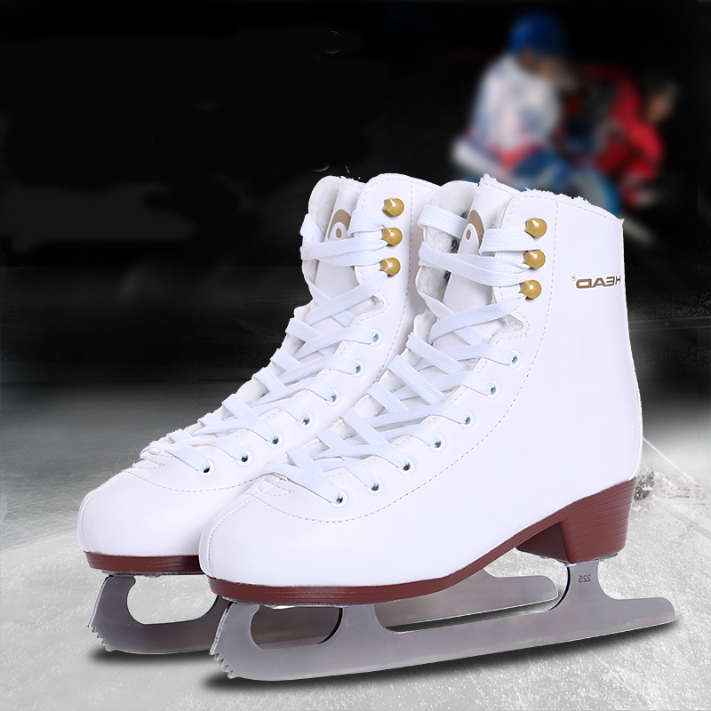 Women Kids 2020 Winter Adult Professional Thermal Fleece Warm Thicken Ice Figure Skates Shoes With Ice Blade PU Waterproof
