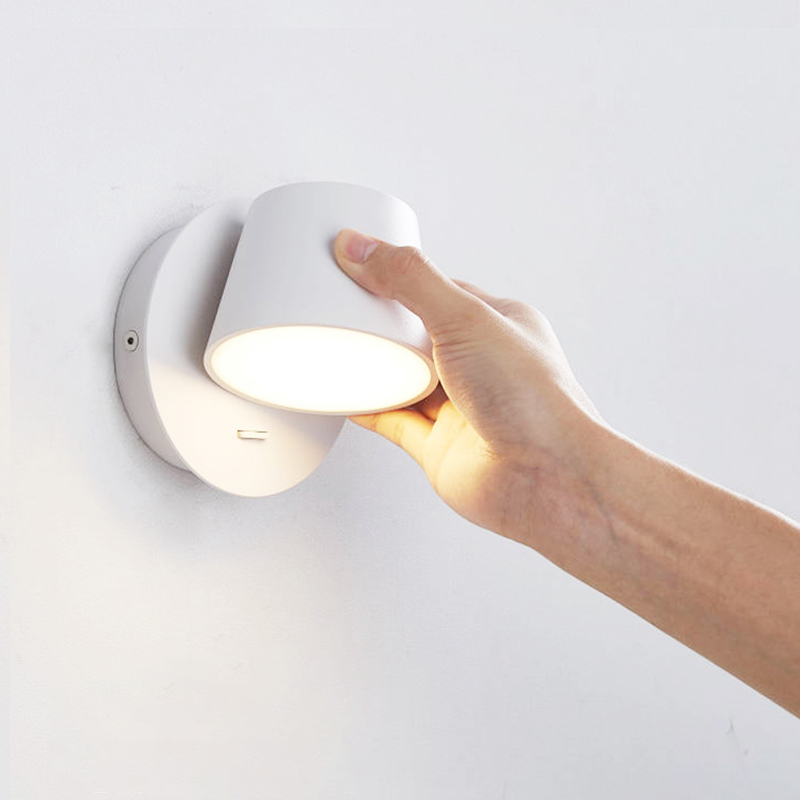 350° Rotating Remote Control LED Wall Lamp for Reading Free Rotation|Wall Lamps| |  - title=