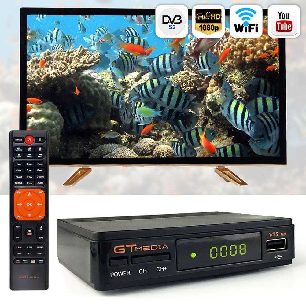 2019 Wireless Satellite Receiver Digital Box Freesat/Gt Media V7S HD FTA DVB S2, V7HD Upgrade Set-top Box