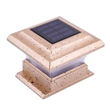 Фонарный столб с солнечной батареей водонепроницаемый колпачок лампы автоматическое включение/выключение фонарь для лестничных дорожек з...