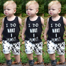0-2Y summer Newborn Baby Boy girl Clothes set letter T-shirt Tops+Pants Outfits Clothes Baby Clothing Set стоимость