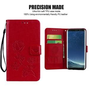 Image 5 - Funda de cuero con flores 3D para Samsung Galaxy, protector con flores 3D para Samsung Galaxy S9 S8 S10 Plus S20 Ultra A51 A71 A50 A21S A31 A41 A01 A11 A30S A10 A20 A40 A70