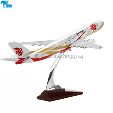 Terebo Metal 40cm Airbus A380 model aircraft Eastern Airlines static passenger aircraft model Civil aviation resin model 45cm a380 china southern airlines airplane model resin aviation china southern airbus a380 airways scale model creative gift toy