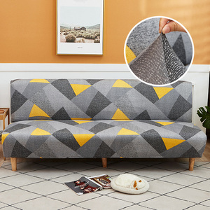 Sofa Bed Cover Universal Armless Folding Modern seat slipcovers stretch covers cheap Couch Protector Elastic Futon Spandex Cover