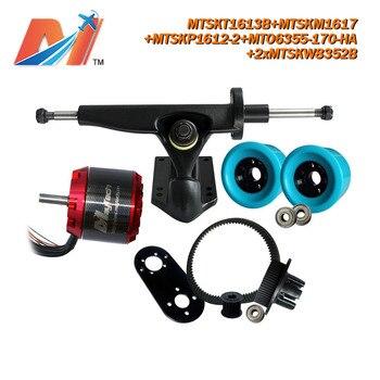 Maytech (6pcs) 6355 electric skateboard sensored brushless motors sector 9 longboard skateboards combo