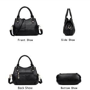 Image 4 - NUOVO Tre sacchetto di Casual tote Filo borse delle donne borse di marche famose del sacchetto di mano femminile per le donne di spalla borse crossbody sac uno dei principali