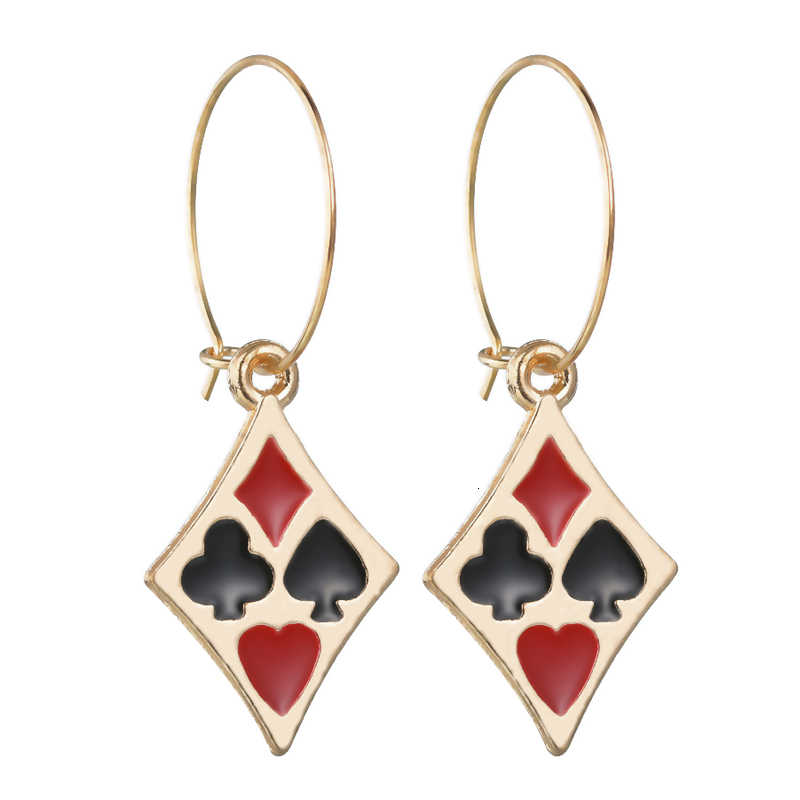 Pendientes de gota de pentagrama de Color de bandera de tendencia para mujer joyería de fiesta personalidad colgante dorado y pendientes niñas regalo de cumpleaños