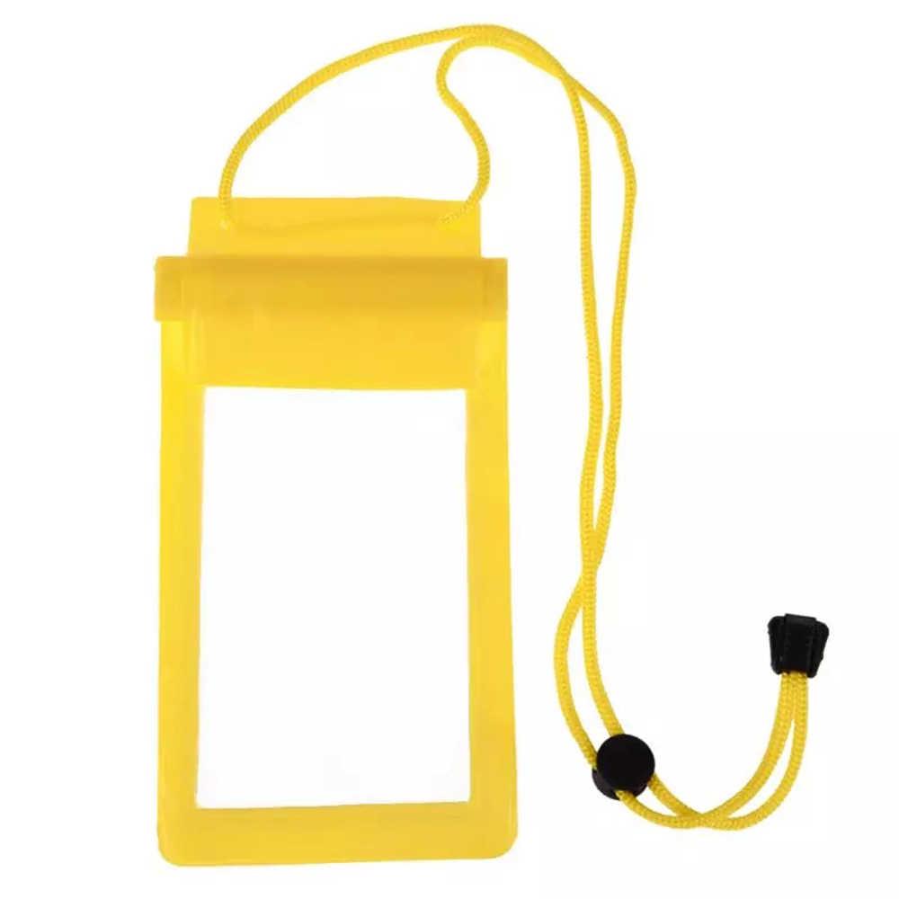 Kuat 3 Layer Sealing Tahan Air Smart Telepon Tas Kantong untuk Air Olahraga untuk iPhone Saku Case Renang Menyelam Tas dengan tali