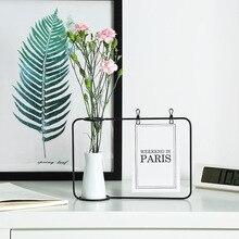 Креативный контейнер, ваза для гидропонного растения, Европейский цветочный горшок, ваза из кованого железа, можно прикрепить, открытка, ваза, украшение дома