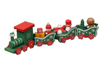 New Mini Wood Christmas Decoration Train Gift Wooden Model Vehicle Toys Year Xmas For Children Sets