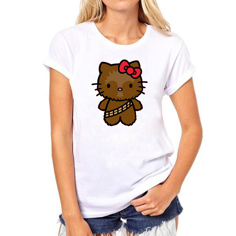 Hello Kitty Summer Fashion Grunge Cartoon Shirt Korean Clothing T-shirt Women Aesthetic Clothes Tshirt Woman