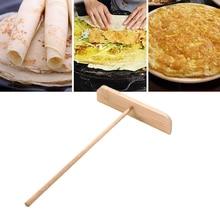 Heat-Crepe-Maker Pancake Batter Kitchen Spreader-Stick DIY 1 1pc Wooden T-Shaped New
