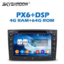 PX6 DSP IPS Android 9.0 64G + 4G LTE Car DVD Player GPS RDS Radio wifi Bluetooth 5.0 For Renault Megane 2 ii 2003-2008 2009 2010(China)