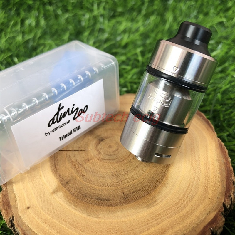 2019 New YFTK Style SS316 Tripod MTL RTA 22MM 2ML Rebuildable Atomizer Single Coil Build Deck Vs Taifun GTR Kayfun Lite RTA