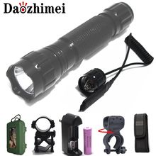 flash light 3800LM XM-L L2 T6 LED Torch Hunting Light lanterna +18650 Battery +Charger+Pressure switch+Mount
