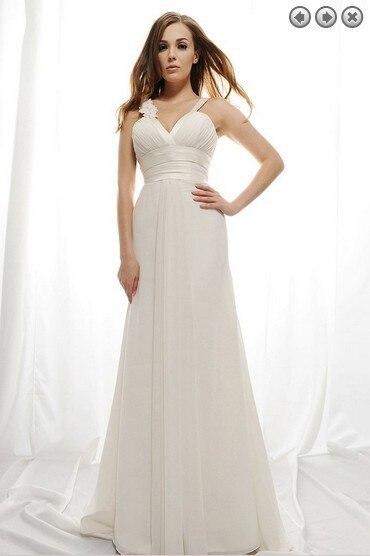 Cheap Wedding Dresses 2019 Deep V-neck Backless Flowers Vestido De Noiva Robe De Mariee Long Wedding Dress Brides Bridal Gown
