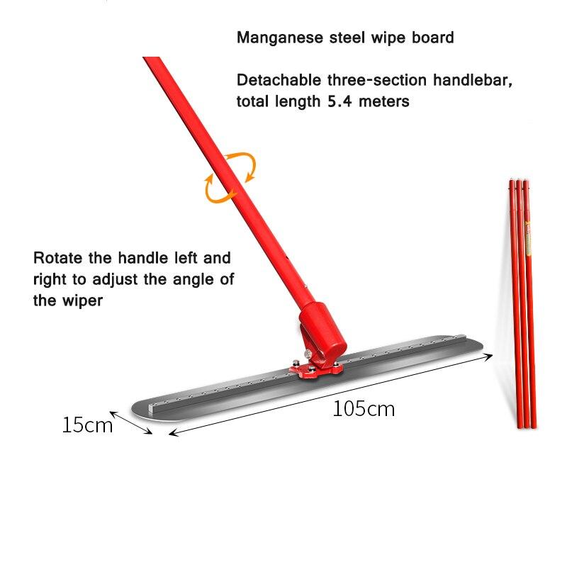 Máquina niveladora de hormigón, herramienta de nivelación de cemento y carretera, Manual, alargada, de acero y manganeso