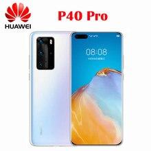 Оригинальный официальный сотовый телефон Huawei P40 Pro, Восьмиядерный процессор Kirin 990, экран 6,58 дюйма 2640x1200P 90 Гц OLED, OTG NFC, Беспроводная зарядка