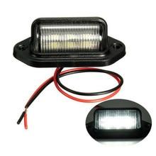 Wysokiej jakości 1 szt wodoodporny IP65 oświetlenie tablicy rejestracyjnej przyczepa do samochodu ciężarowego lampa krokowa oświetlenie tablicy rejestracyjnej akcesoria samochodowe