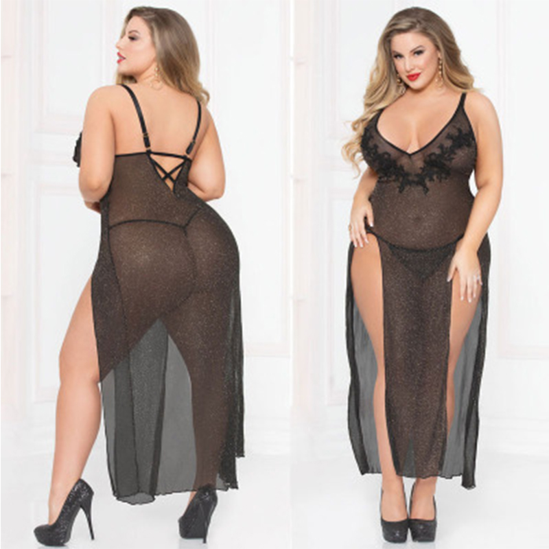 Sexy Babydoll Lingerie Erotic Plus Size Women Porno Sleepwear Dress Holllow Out Hollow-out Chemise Babydoll Costume Underwear