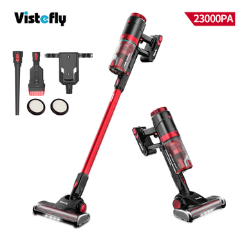 Vistefly VX cordless vacuum cleaner 250W 23Kpa strong suction, operating time up to 50 min, with LED front lights, 2 in 1 brush