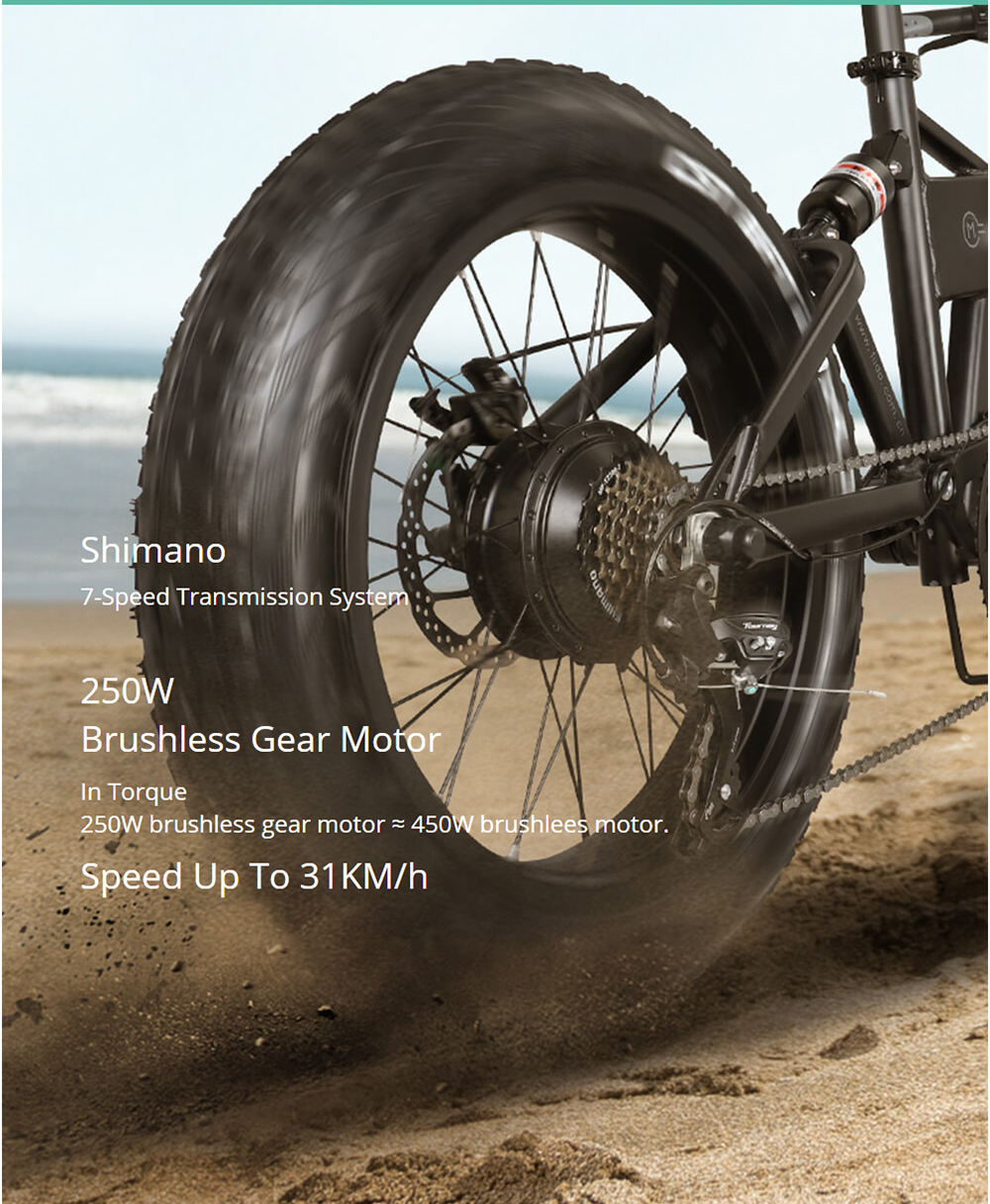 Electric E-Bike bike has a large real world range of 40 miles.