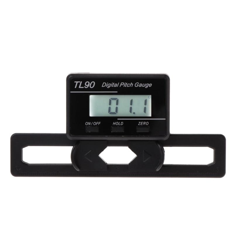 TL90 Digital Pitch Gauge LCD Backlight Display Blades Angle Measurement Tool J6PC